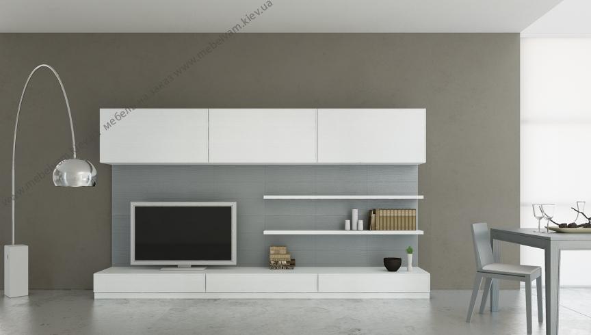 Современная мебельная стенка в стиле хай-тек s100178 GC93