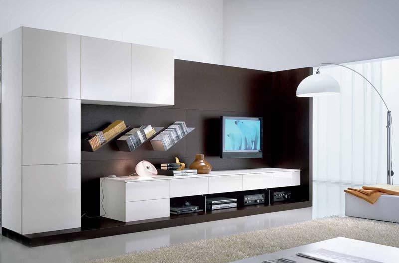 белая мебельная горка в гостиную S100406