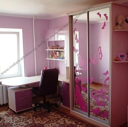 шкаф купе для девочки подростка фото
