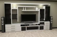 Купить мебельную стенку в стиле модерн, Мебельная стенка в стиле модерн от производителя