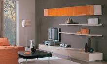 Легкая горка для гостиной, заказать современную легкую мебель