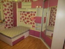 Подростковая комната в розовом цвете, мебель для девочки