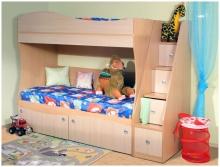 Кровать с лесенкой-комодом киев, Кровать с лесенкой фото