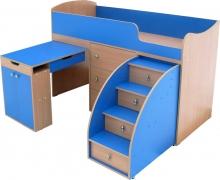 Кроватка чердак с выкатной лесенкой продажа, Кроватка чердак с выкатной лесенкой на заказ