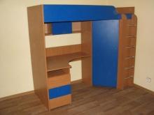 Детская кровать - чердак с угловым шкафом каталог, Кровать - чердак с угловым шкафом на заказ