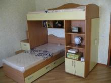 Детская кровать - чердак с дополнительной кроваткой фото, на заказ детская кровать - чердак