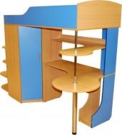 От производителя кроватка детская с фигурным компютерным столиком, Кроватка  с фигурным компютерным столиком  на заказ