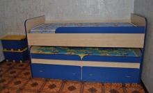 Кровать двухъярусная подростковая в Киеве, Кровать подростковая на заказ