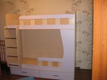 Кроватка двухъярусная с лесенкой купить, Кроватка двухъярусная с лесенкой современная
