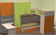Каталог кроваток двухъярусных, Кроватка двухъярусная в Киеве на заказ