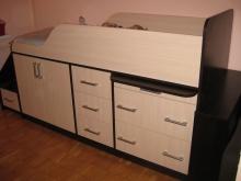 Кровать-трансформер с большим количеством ящиков, нестандартная кровать трансформер