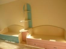 Детские кровати в комнату мальчика и девочки, кровати для разнополых детей