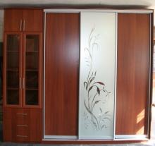 Цена шкаф-купе 3-х дверный, фасады Зеркало с рисунком; Шкаф-купе 3-х дверный, фасады Зеркало с рисунком кредит