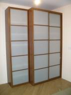 Выбрать шкаф-купе 2-х дверный, фасады Стекло Сатин; Цены шкафов-купе 2-х дверных, фасады Стекло Сатин