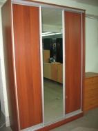 Шкаф-купе 3-х дверный, фасады Зеркало и ДСП выбрать; Шкаф-купе 3-х дверный, фасады Зеркало и ДСП цены