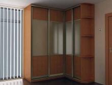 Шкаф-купе угловой, фасады Зеркало и ДСП каталог; Заказать шкаф-купе угловой, фасады Зеркало и ДСП