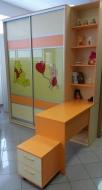 Детский шкаф-купе с комбинированными фасадами, детские шкафы фотопечать
