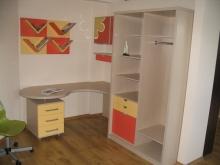 Шкаф-купе с угловым столом, детская мебель шкаф-купе