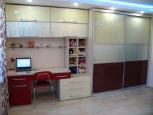 Современная стенка со шкафом-купе, детская мебель со шкафом-купе