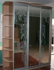Шкаф-купе 3-х дверный, фасады Зеркало с рисунком цена; Шкаф-купе 3-х дверный, фасады Зеркало с рисунком в кредит